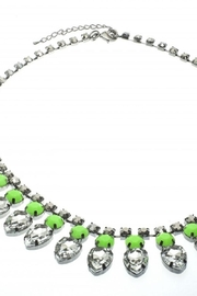 US Jewelry House Green Statement Necklace - Front cropped