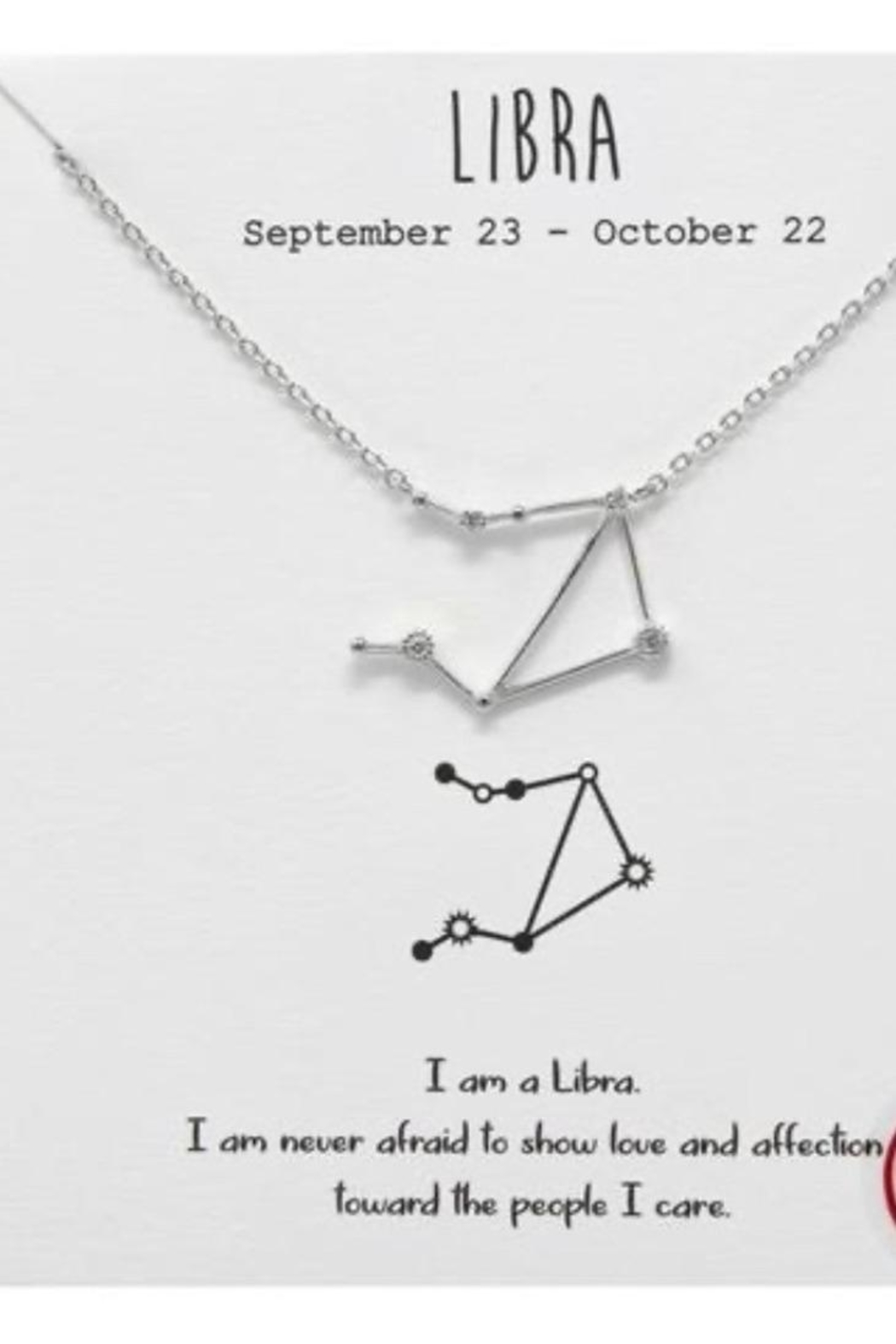 US Jewelry House Libra Constellation Necklace - Main Image