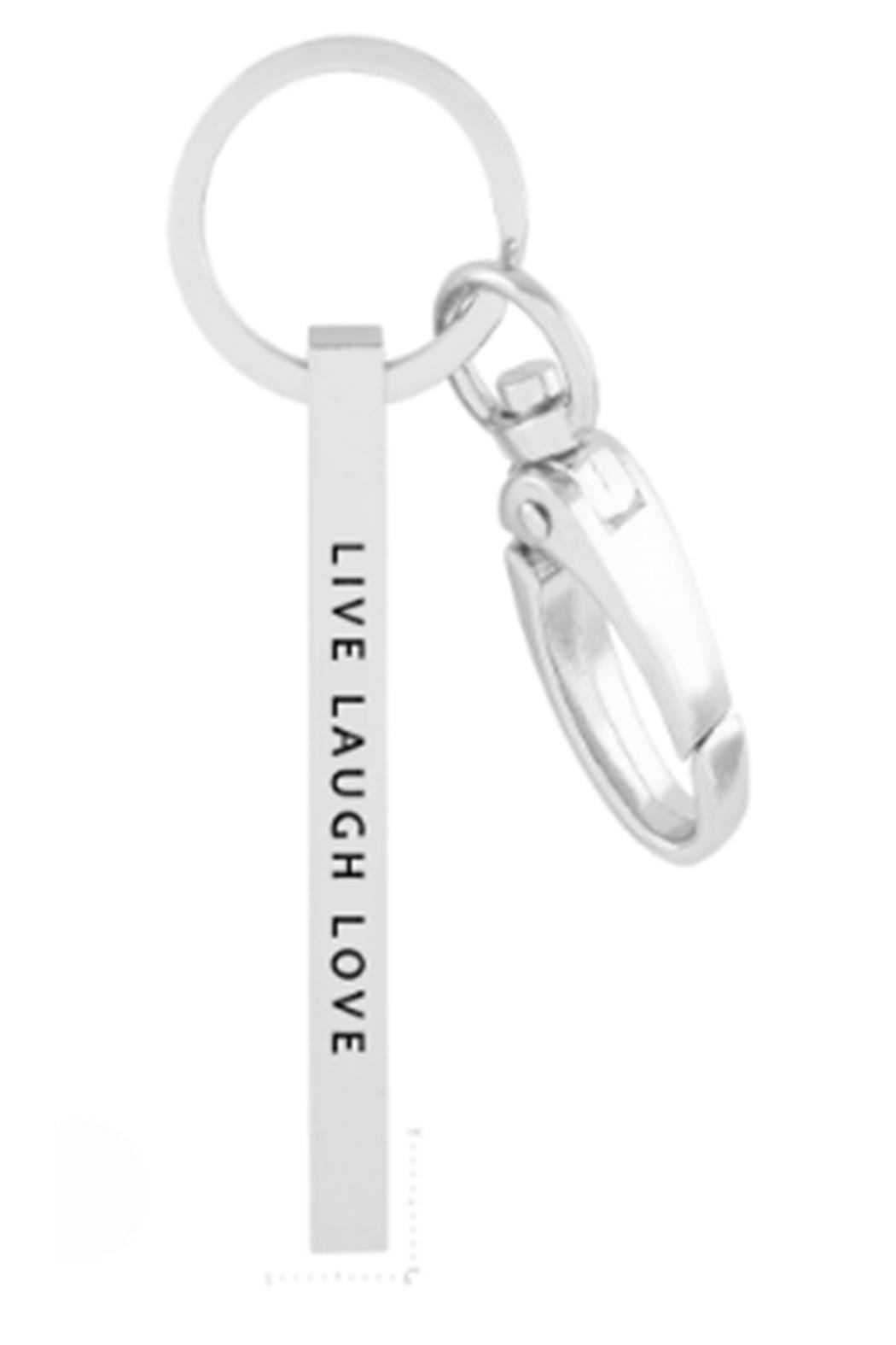 US Jewelry House Live-Laugh-Love Silver Keychain - Main Image