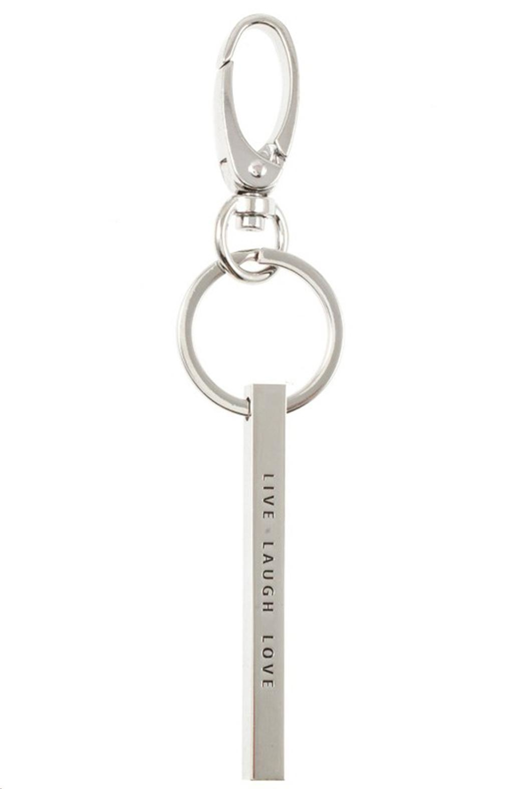 US Jewelry House Live-Love-Laugh Keychain - Front Cropped Image