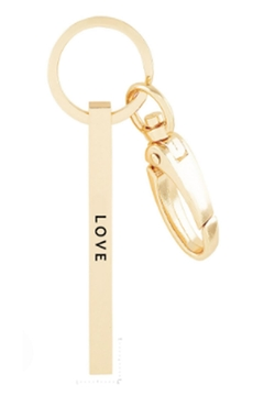 Shoptiques Product: Love Rose-Gold Keychain