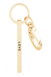 US Jewelry House Love Rose-Gold Keychain - Front cropped