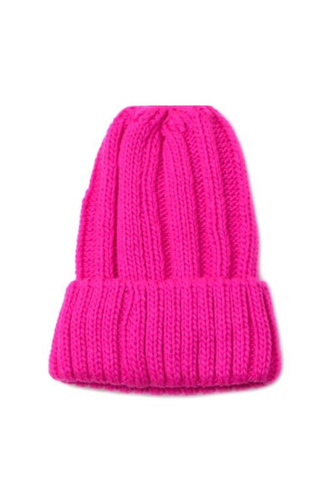 US Jewelry House Neon Beanie Hat - Front Cropped Image