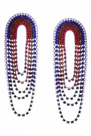 US Jewelry House Rainbow Pave Statement Earrings - Product Mini Image