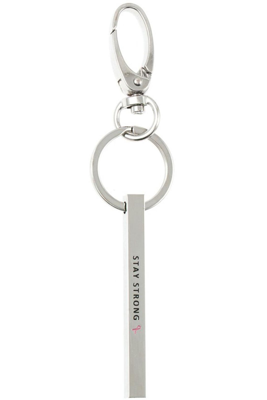 US Jewelry House Stay Strong Keychain - Front Cropped Image