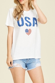 Tres Bien Usa Heart Tee - Product Mini Image