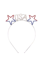Riah Fashion Usa-Stars Rhinestone Headband - Product Mini Image