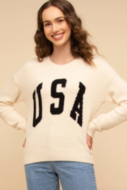 Thread & Supply USA  Sweater Top - Front cropped