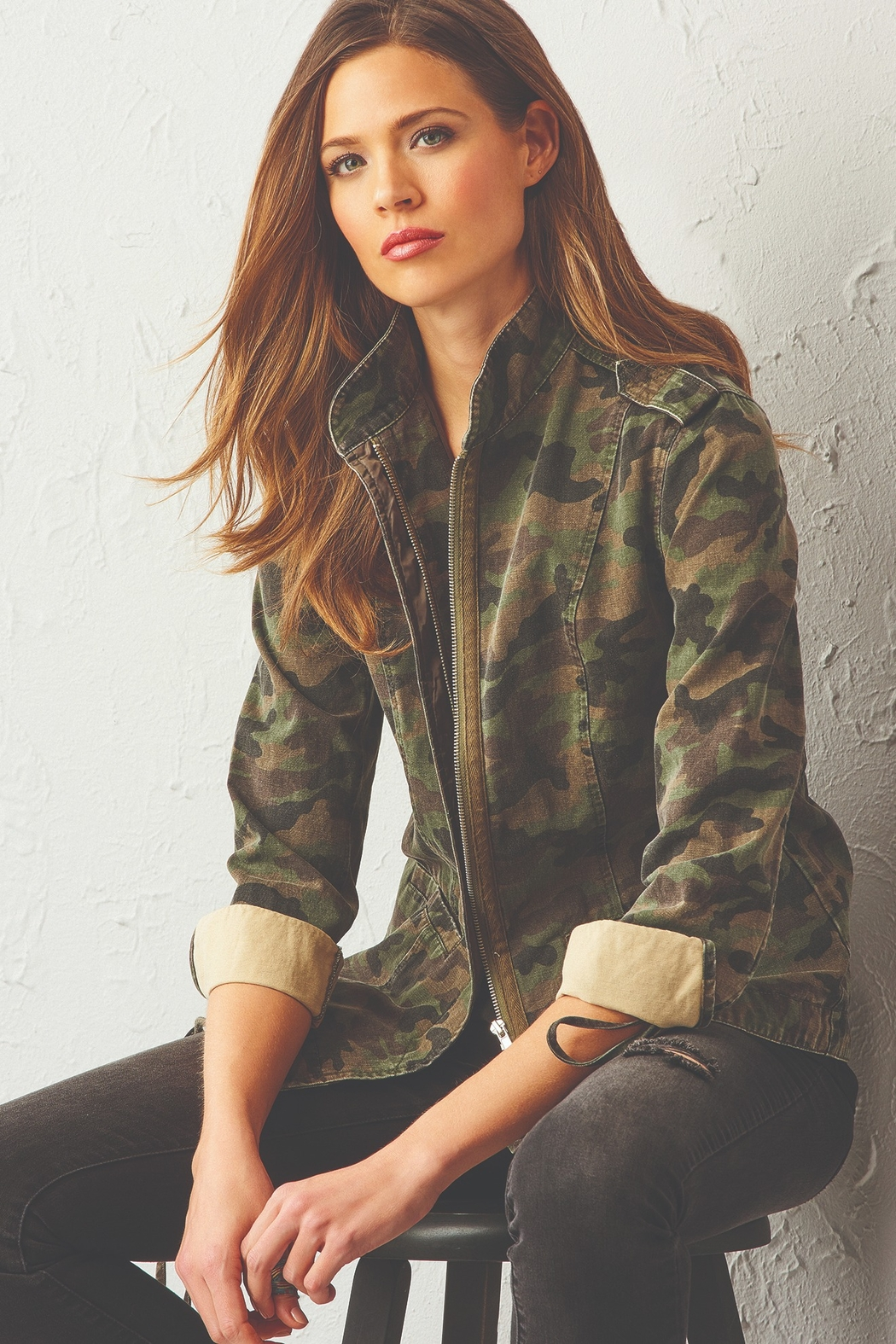 Charlie Paige Utilitarian Jacket - Front Cropped Image
