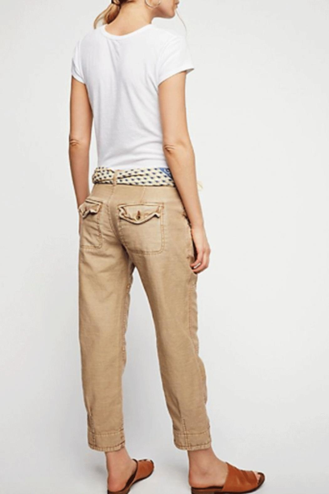 Free People Utility Boyfriend Pant - Front Full Image