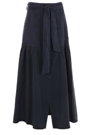 SUZY D Utility Button  Maxi Skirt - Front cropped