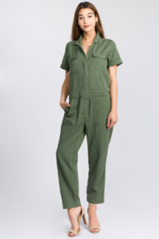 Olivaceous  Utility Jumpsuit - Product Mini Image