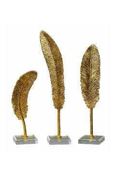 Shoptiques Product: Gold Feathers