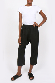 UZI NYC Black Drop Crotch Pants - Product Mini Image