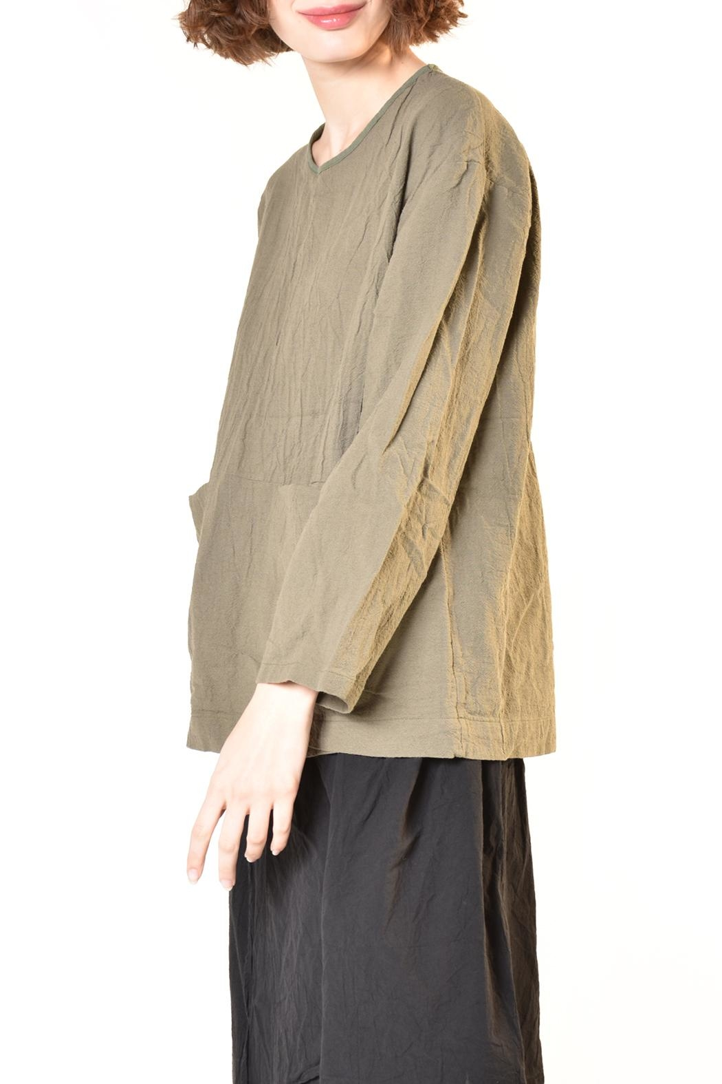 UZI NYC Pouch Blouse - Front Cropped Image