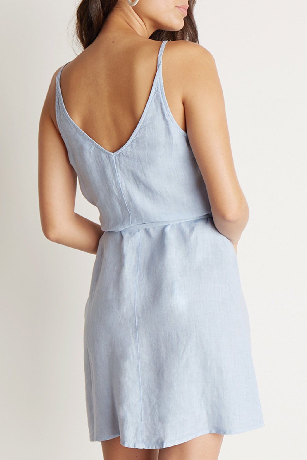 Bella Dahl V-BACK WRAP DRESS - Side Cropped Image