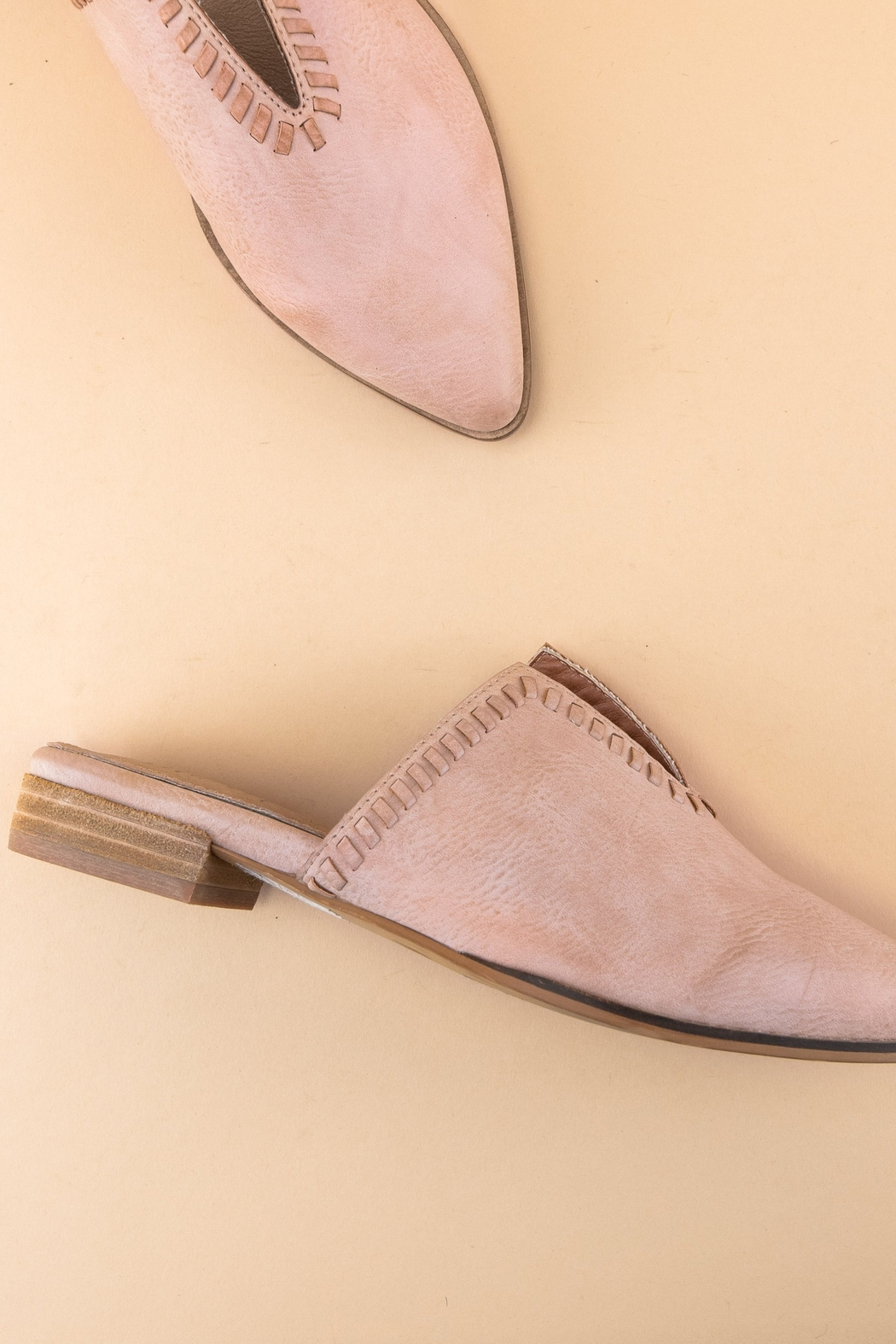 MiiM V-Cut Pointed Mule - Front Full Image