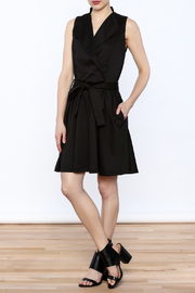 V Fish Fit & Flare Dress - Front full body