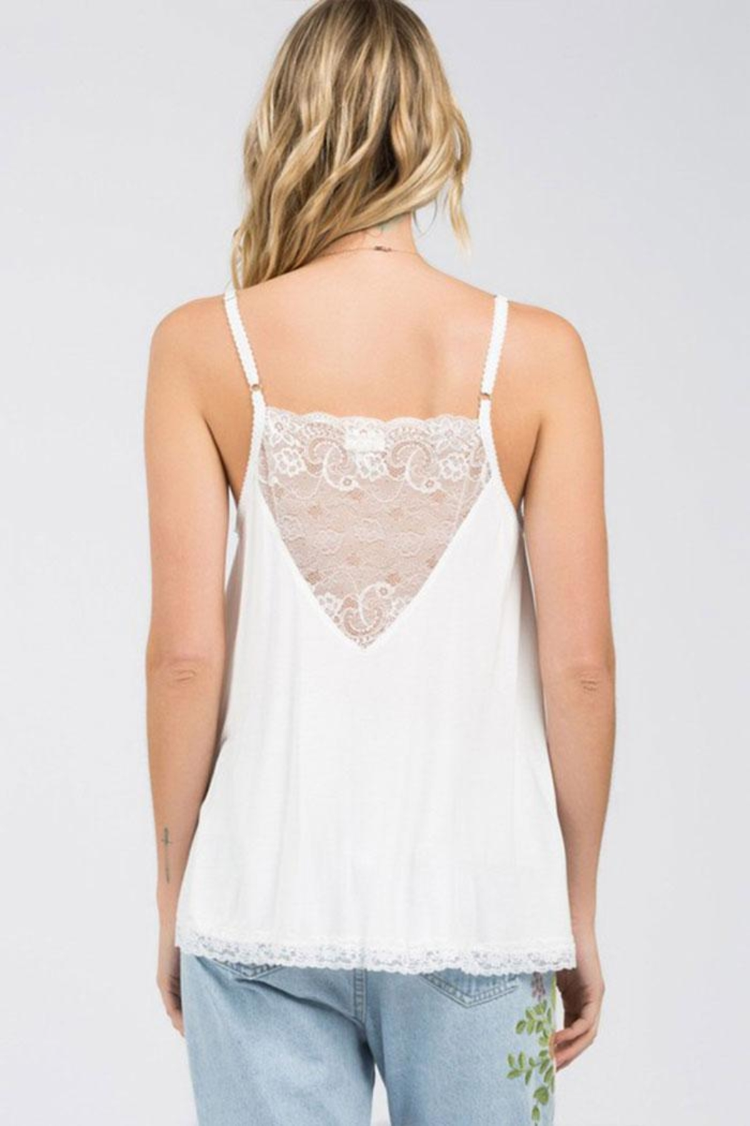POL V-Lace Detail Tank - Front Full Image