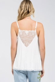 POL V-Lace Detail Tank - Front full body