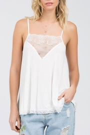 POL V-Lace Detail Tank - Front cropped