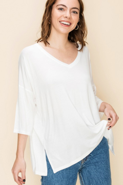 HYFVE V Neck 3/4 Sleeve Drop shoulder Top - Product List Image
