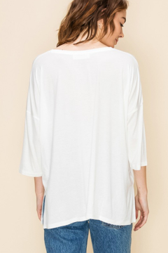 HYFVE V Neck 3/4 Sleeve Drop shoulder Top - Alternate List Image