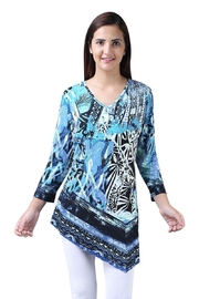Parsley & Sage V-Neck Asymmetrical Tunic - Front cropped