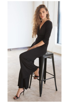 Clara Sunwoo V Neck Black JumpSuit - Alternate List Image