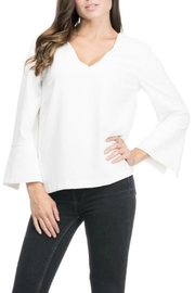 Blues & Greys  V-Neck Blouse - Product Mini Image