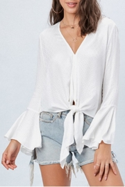 Love Stitch V Neck Blouse - Product Mini Image