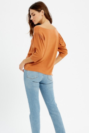 Wishlist V Neck Brushed Hacci Top - Front full body