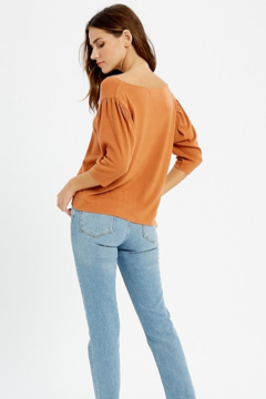 Wishlist V Neck Brushed Hacci Top - Alternate List Image