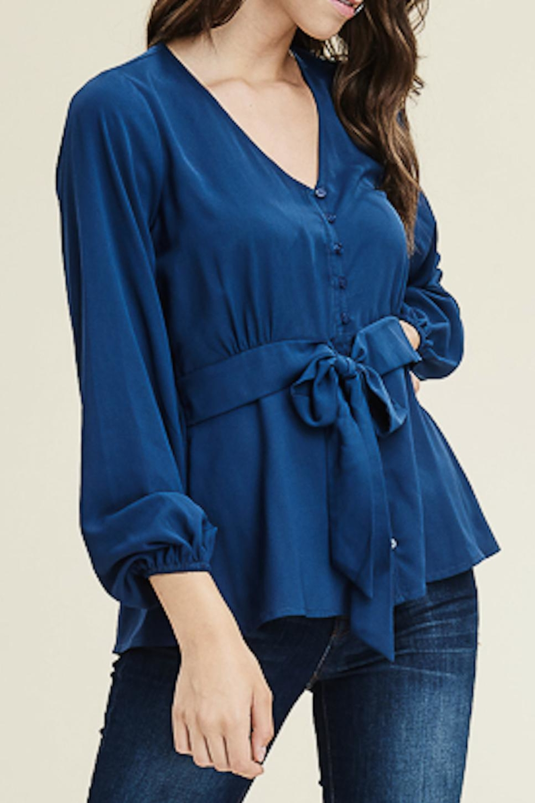 Staccato V-Neck Button-Down Blouse - Main Image