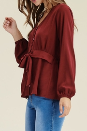 Staccato V-Neck Button-Down Blouse - Other