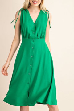 Gilli  V-Neck Button Up Midi Dress - Alternate List Image