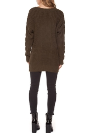 Dex Clothing V-Neck Cable-Knit Sweater - Front full body