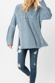 Cozy Casual V-neck cable knit sweater - Product Mini Image