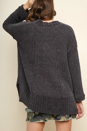Umgee USA V-Neck Chenille Pullover - Side cropped