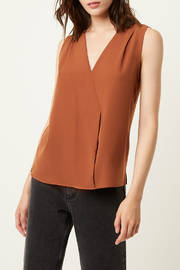 French Connection V NECK CROSSOVER TOP - Product Mini Image