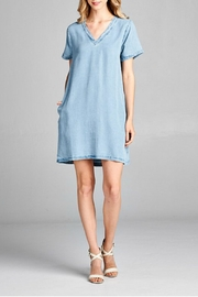 Ellison V-Neck Denim Dress - Product Mini Image