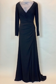 Mac Duggal V NECK DRAPED FRONT GOWN - Product Mini Image