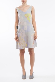 Clara Kaesdorf V-Neck Dress Grey - Front full body