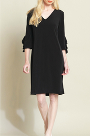 Clara Sunwoo V Neck Dress with Ruffle Cuff Detail - Product Mini Image