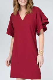 Ivy Jane V-Neck Dress with Ruffle Sleeves - Product Mini Image