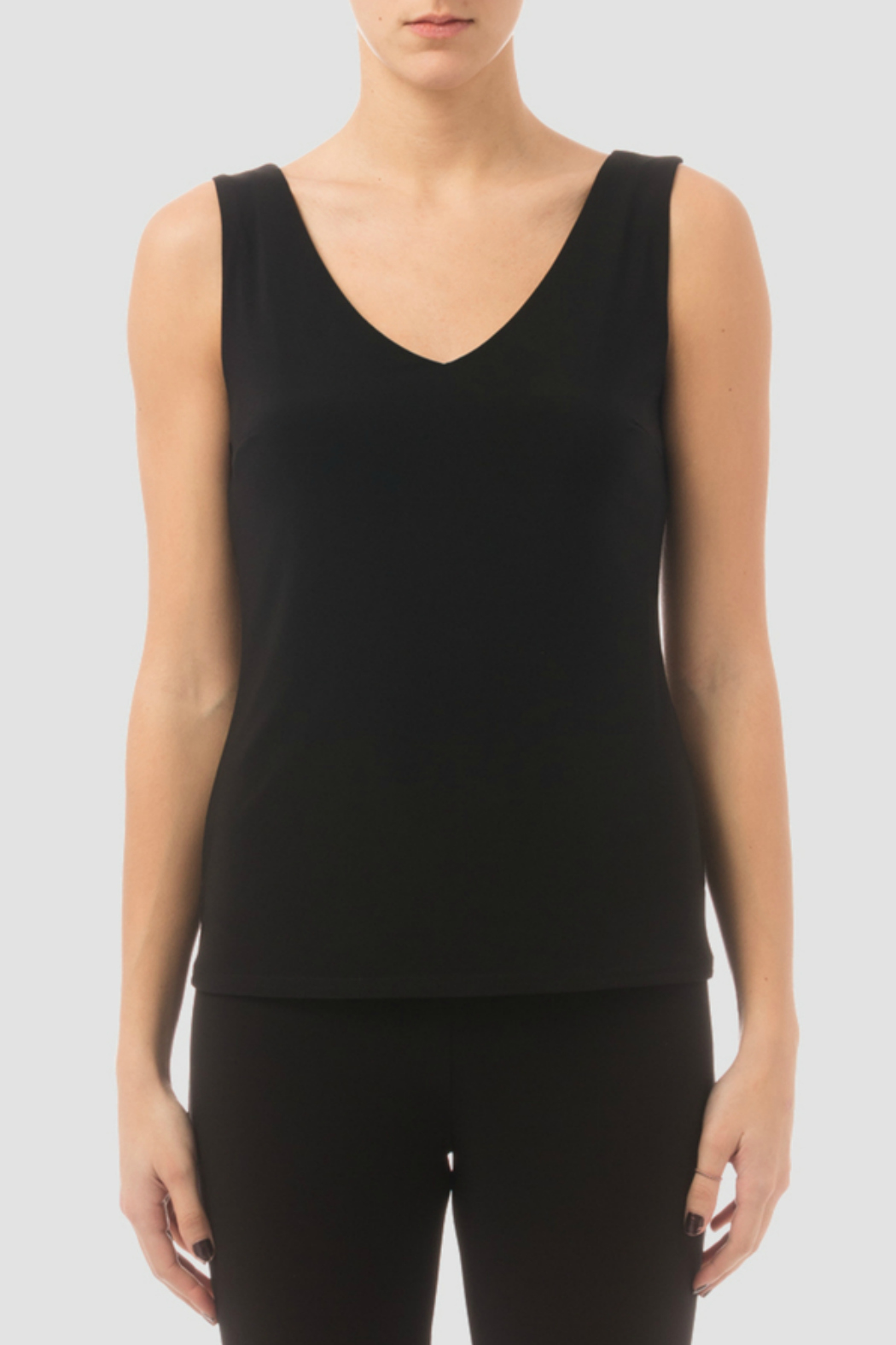 Joseph Ribkoff V Neck Dressy Fitted Cami - Front Cropped Image