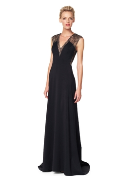 Aidan Mattox V Neck Embellished Gown - Alternate List Image