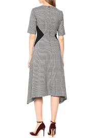 Donna Morgan V-Neck Fit-And-Flare Dress - Front full body