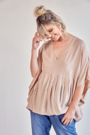 Mustard Seed  V-Neck Flowy Top - Product Mini Image
