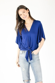 Six Fifty V Neck Flutter Sleeve Top - Front cropped